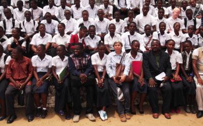 Conférence scientifique pour les élèves de l'école de Mont Amba à Kinshasa le 27 février 2014