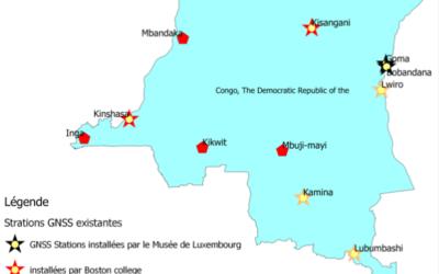 carte des station GPS en RDC