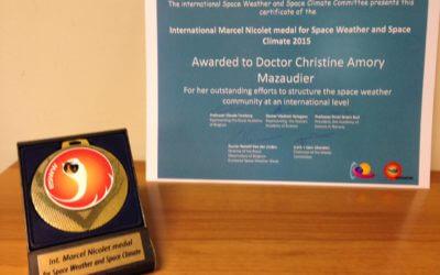 Medaille Marcel NICOLET reçue par Christine Amory-Mazaudier le 23 novembre 2015