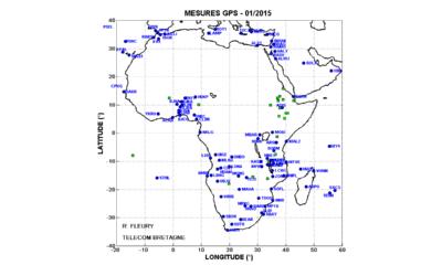 stations GPS disponible sur le Web en décembre 2015